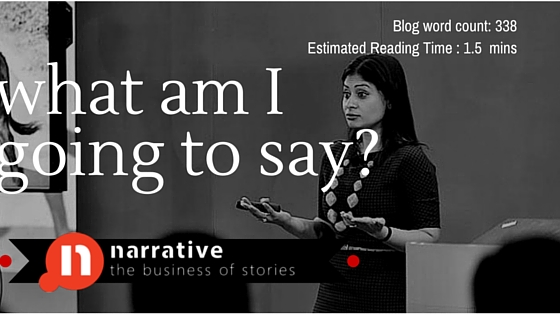 Sales Storytelling : What am I going to say?