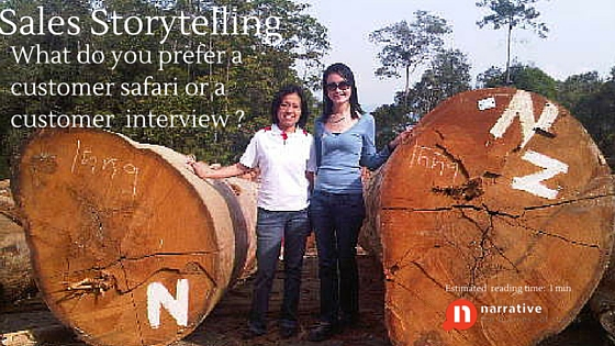 Sales Storytelling : Interviews or Customer Safari?  Part 1 of 2