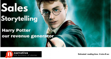 Sales Storytelling : Harry Potter is our revenue generator