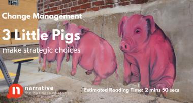 Change Management Storytelling : 3 Little Pigs Make Strategic Choices