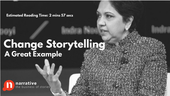 Change Management Storytelling : Indra Nooyi on Change & Challenges