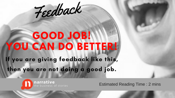 Storytelling and It's Relationship With Feedback