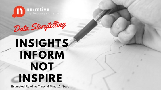 Data Storytelling: Insights Informs but don't Inspire Part 1 of 2