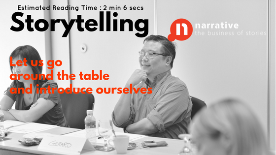 Personal Value Storytelling: Let us go around the table and Introduce ourselves
