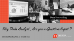Data Storytelling: Hey Data Analyst, Are You are a Questionologist ?