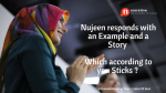 Storytelling: Nujeen responds with an Example and a Story