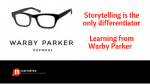Storytelling is the only differentiator