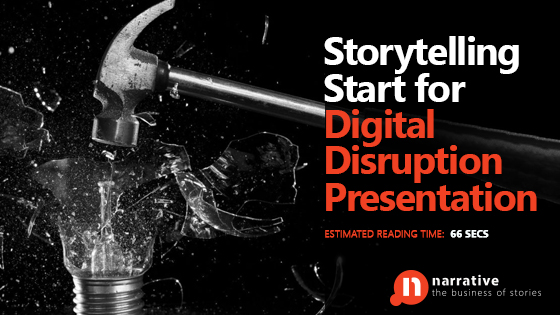 Storytelling Start for Digital Disruption Presentation