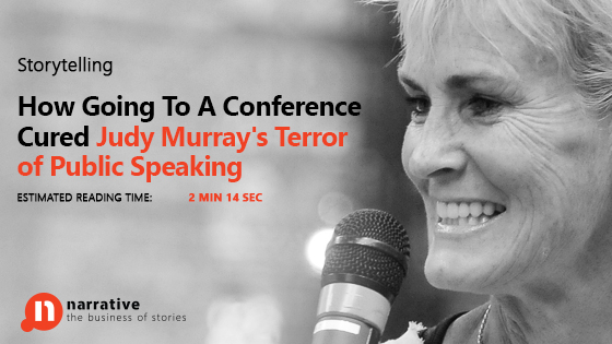 How Going To A Conference Cured Judy Murray's Terror of Public Speaking