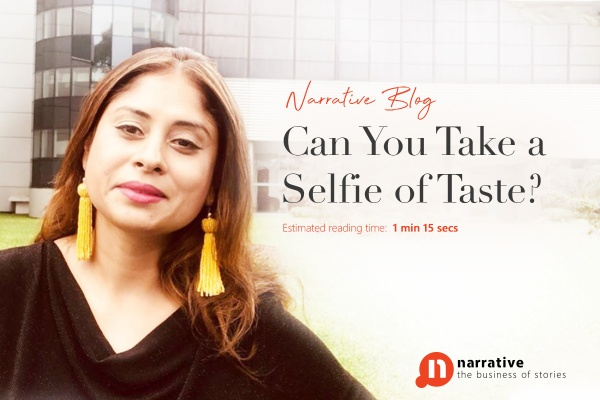 Can You Take A Selfie Of Taste?